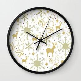 Winter pastel pattern design Wall Clock