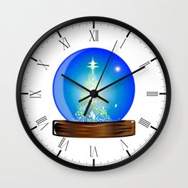 Christmas Globe Tree Wall Clock
