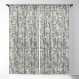 Legobricks camouflage Sheer Curtain