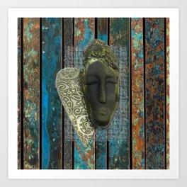 #15 Face & Metal Digital Collage Art Print