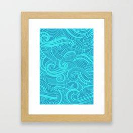 Sea billows Framed Art Print