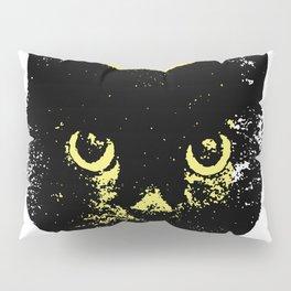 Black Cat, Color Block Yellow Pillow Sham