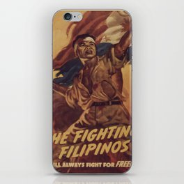 Vintage poster - The Fighting Filipinos iPhone Skin