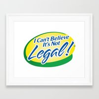 cannabis Framed Art Prints featuring Legalize Cannabis by WeedPornDaily