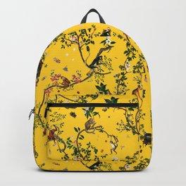 Monkey World Yellow Backpack