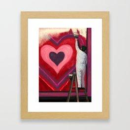 Valentine's Day Illustration Framed Art Print