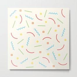 Post Modern Pattern Pastel  Metal Print