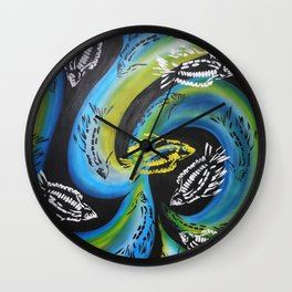 catching waves Wall Clock