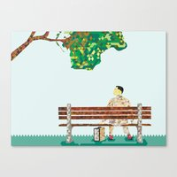 forrest gump Canvas Prints featuring Forrest Gump  by PIXERS