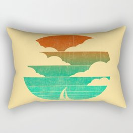 Go West (sail away in my boat) Rectangular Pillow