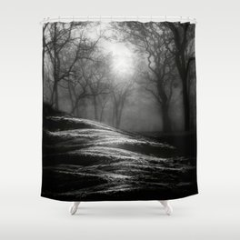 Black and White - From small beginnings and big endings Shower Curtain