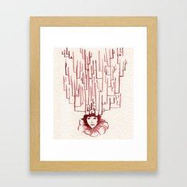 Deer Crossing Framed Art Print