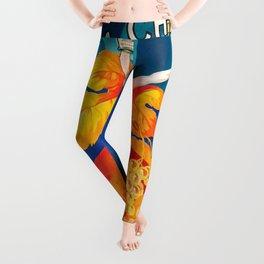 SES CABLIS AUTHENTIQUES VINTAGE POSTER Leggings