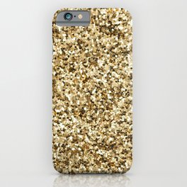 Gold Sparkles iPhone Case
