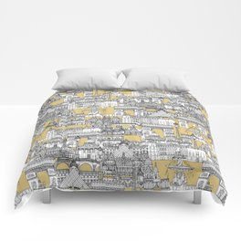 Paris toile gold Comforters