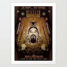 Big Lebowski Fan Art Poster  Art Print