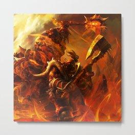 Orc Attack Metal Print
