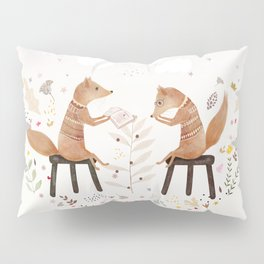 fox philosophers Pillow Sham