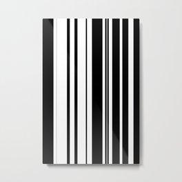Black and white stripes 1 Metal Print