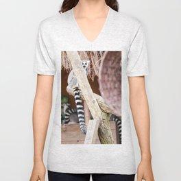 Ring-tailed lemur Unisex V-Neck