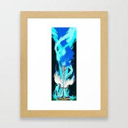 Lapis Summoning Fire Framed Art Print