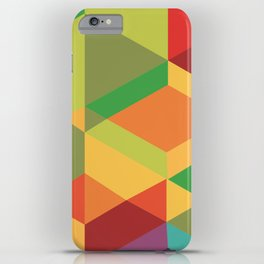 Geometric colour iPhone Case