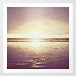 Purple Shores Art Print