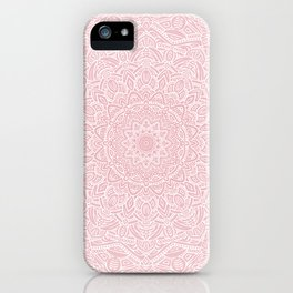 Most Detailed Mandala! Rose Gold Pink Color Intricate Detail Ethnic Mandalas Zentangle Maze Pattern iPhone Case
