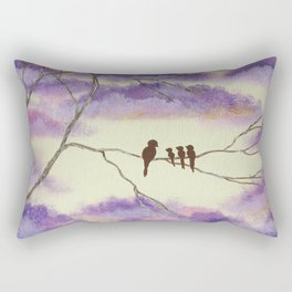 A Mothers Blessings, Birds in Tree Rectangular Pillow