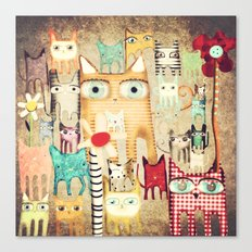 Bunch of Cats Canvas Print