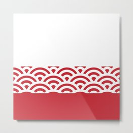 Rainbow Trim Scarlet Red Metal Print