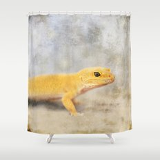 Portrait of a Leopard Gecko Shower Curtain