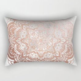 ROSE GOLD MANDALA Rectangular Pillow