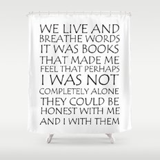 Blackwhite Love And Typography Shower Curtains Society - Shower curtain with words