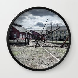 Roundhouse View of Rail Yard East Broad Top Pennsylvania Railroad Train Track Wall Clock