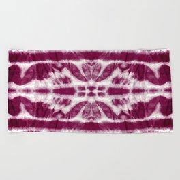 Tie-Dye Burgundy Twos Beach Towel