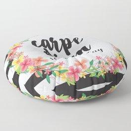 Carpe Diem / Seize The Day Quote Floor Pillow