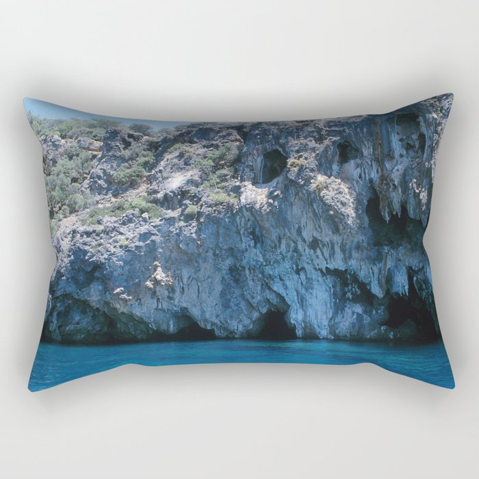 NATURE'S WONDER #4 - BLUE GROTTO #art #society6 Rectangular Pillow