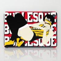 burlesque iPad Cases featuring BURLESQUE RED by zzglam