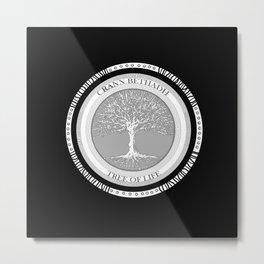 Tree of life (black) Metal Print