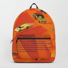 1969 Hot Wheels Italian Dealers Redline Poster with Redline Custom Camaros Backpack
