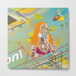 Abstractionist – Rebellion Metal Print
