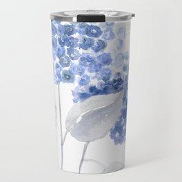 Blue hydrangea painting Travel Mug