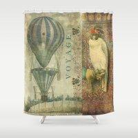 voyage Shower Curtains featuring Voyage by Aimee Stewart