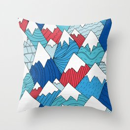 Mountain Pattern 2.0 Throw Pillow