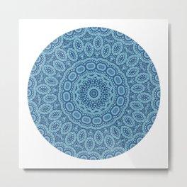 Beautiful classic elegant oriental blue mandala Metal Print