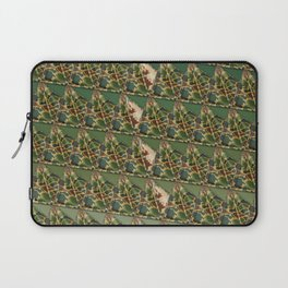 3D triangles with camo pattern Laptop Sleeve