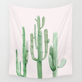Three Amigos Pink + Green Wall Tapestry