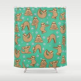 Cute Sloth Yoga Shower Curtain