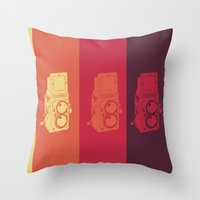 camera Throw Pillows featuring Camera. by Tuky Waingan